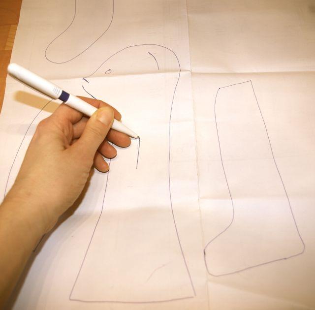 Hasenschnitt zeichnen