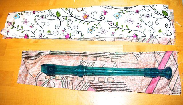 Zuschnitt Flötentasche
