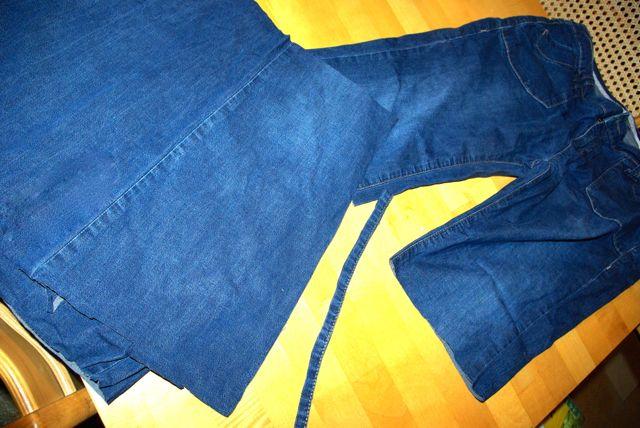 Jeans zerschnitten