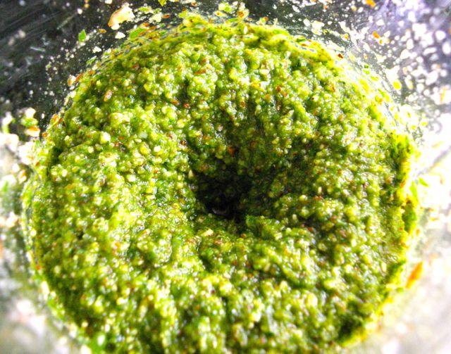 Pesto im Mixer