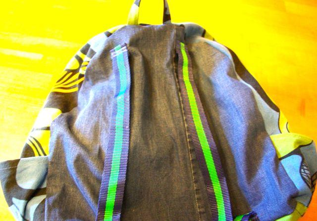 Rucksack fertig von hinten