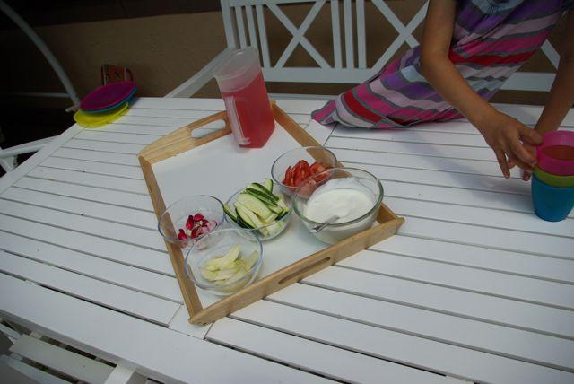 Tisch decken Sommeressen