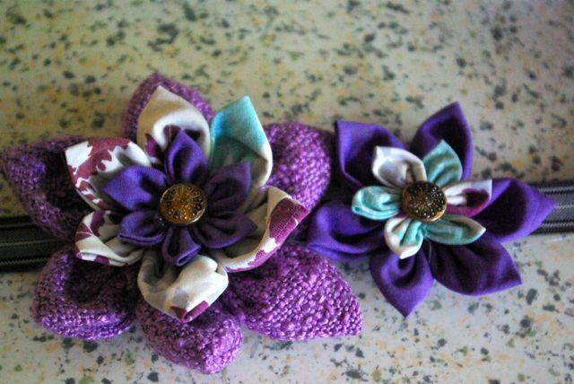 2 Blüten fertig geklebt