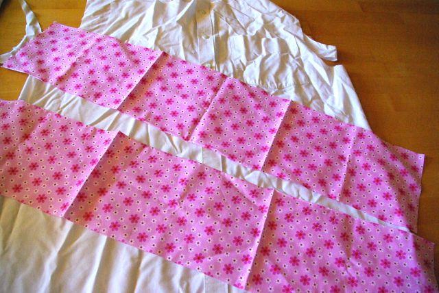 Hemd mit Bordürenstoff rosa
