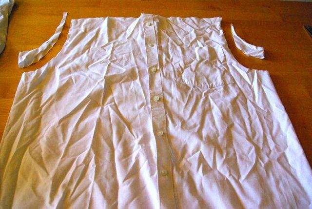 Hemden Armausschnitte abgeschnitten