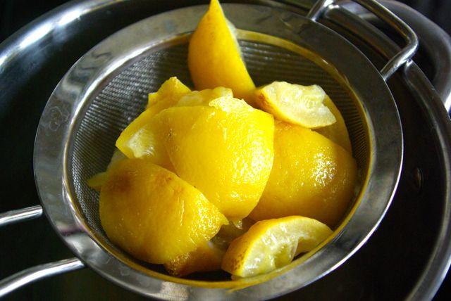 Zitronen abgeschöpft