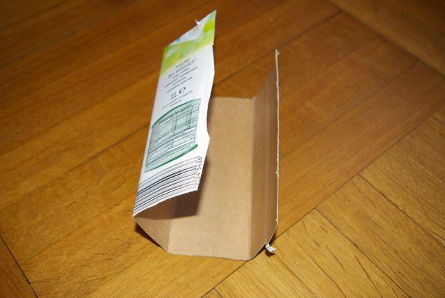 tetrapack zerschnitten