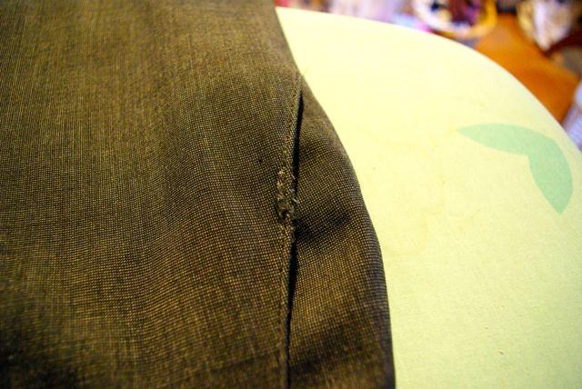 kaputter Tascheneingriff