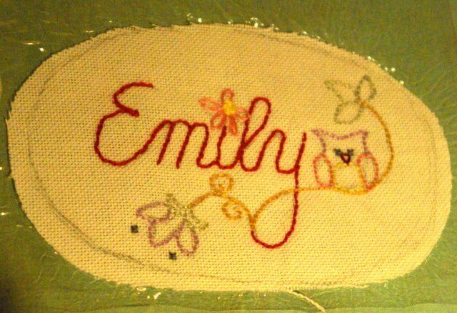 Emily eingeschweisst