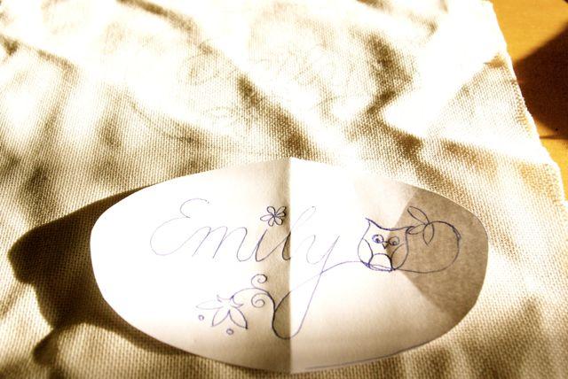 Stickentwurf Emily