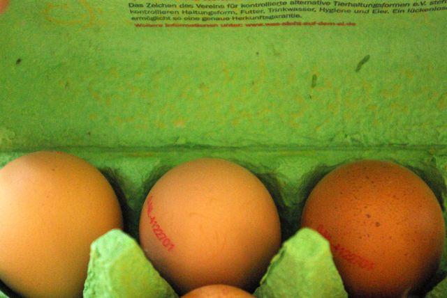 Eier für Nudeln