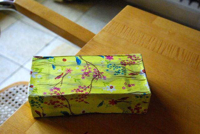 Schublade bezogen