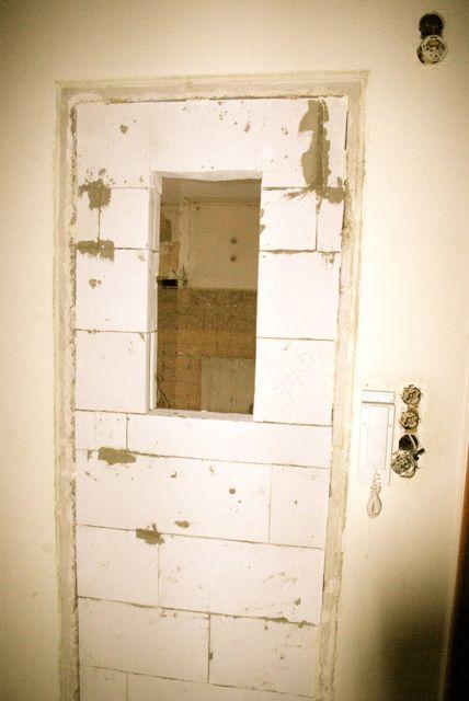 Tür zugemauert