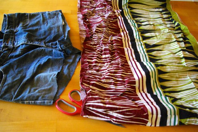 Kleid abgeschnitten