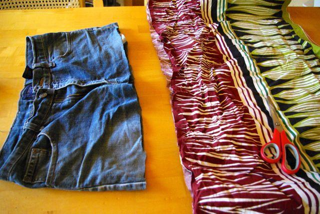 Kleid und Hose abgeschnitten