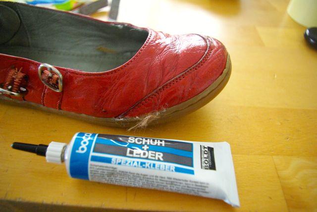 Schuh einstreichen