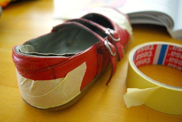 alte Schuhe bekleben