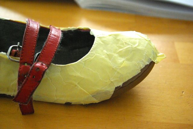 alte Schuhe beklebt