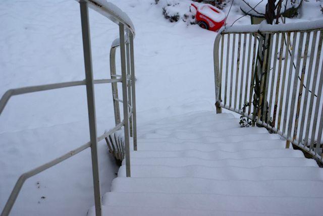 Schneetreppe