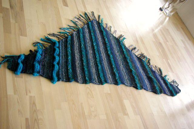 Blaues Tuch fertig