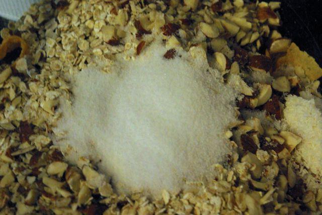 Nüsse mit Zucker