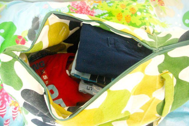 Johanns Weekender gepackt