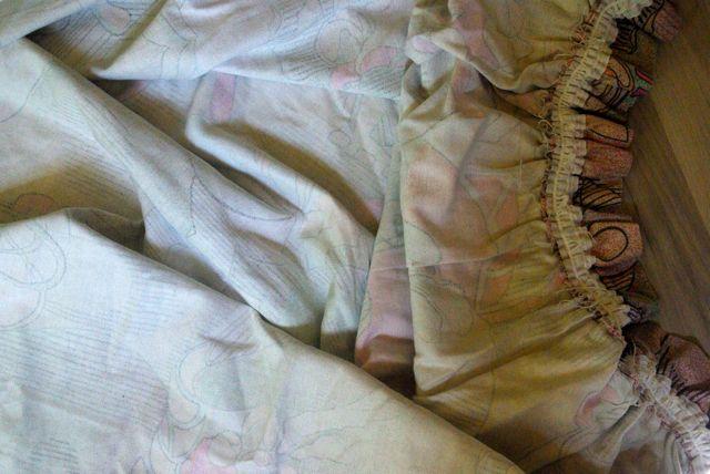 alter  Vorhang rosa