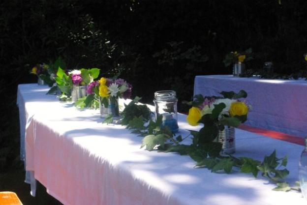 tischdeko fur gartenfest – hirobeauty, Garten seite