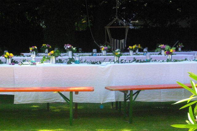 Tische Gartenfest